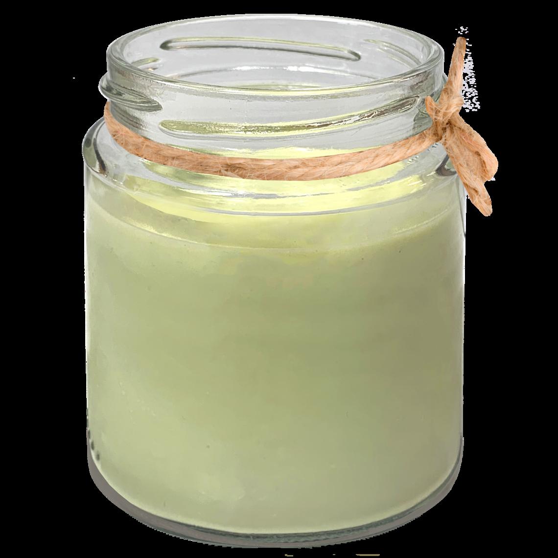 Panna cotta de té verde
